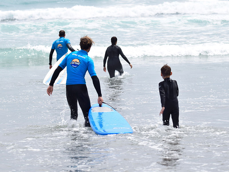 Family Trip Piha Beach Dine and Surf