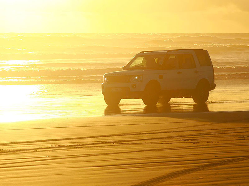 4WD on Black Sand Auckland Beaches